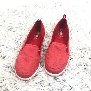KEDS red canvas flats  ortholite soles size 7.5